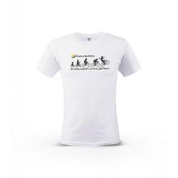 Biele tričko EVOLÚCIA Cycling-Info.sk