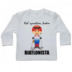 Tričko s dlhým rukávom - budúci biatlonista