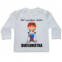 Tričko s dlhým rukávom - budúca biatlonistka
