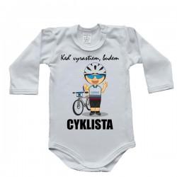 Body s dlhým rukávom - cyklista (Slovák)
