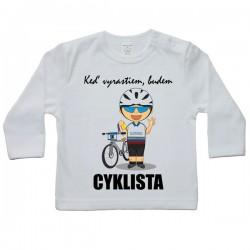 Tričko s dlhým rukávom - cyklista (Slovák)