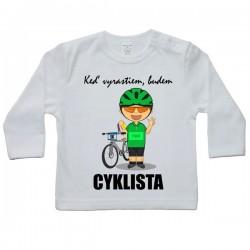 Tričko s dlhým rukávom - cyklista (zelený)