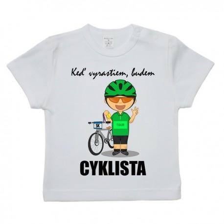 Tričko s krátkym rukávom - cyklista (zelený)