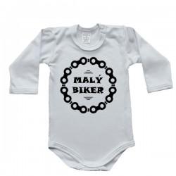Body s dlhým rukávom - malý biker (biele)
