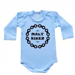 Body s dlhým rukávom - malý biker (modré)